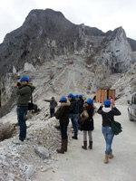 Carrara marble guide tour